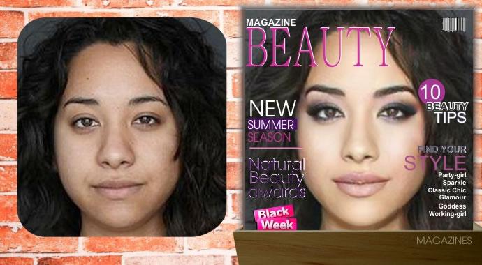 Como Você ficaria na capa de uma revista internacional de beleza?