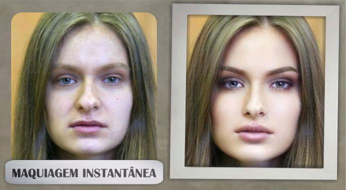 Maquiagem em um minuto! veja como você é linda!
