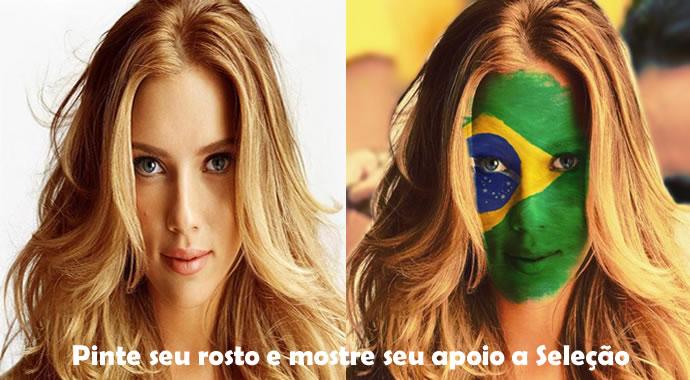 Mostre que é Brasileiro! Pinte seu rosto em apoio a seleção Brasileira! Rumo ao Hexa!