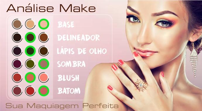 Faça a análise facial e descubra a maquiagem perfeita para você.