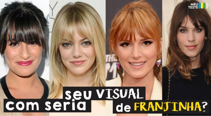 Descubra como seria seu visual de Franjinha?