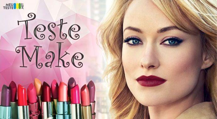 Faça agora mesmo o seu Teste Make descubra como se maquiar!
